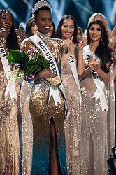 December 8, Atlanta, Georgia, USA: Zozibini Tunzi, Miss South Africa 2019 is crowned Miss Universe at the conclusion of The Miss Universe Competition at Tyler Perry Studios in Atlanta. The new winner will move to New York City where she will live during her reign and become a spokesperson for various causes alongside The Miss Universe Organization.  (Credit Image: ? Miss Universe Organization/ZUMA Wire/ZUMAPRESS.com)