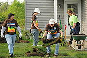 Nicor Inc. employees volunteer with family and friends while helping build homes with Habitat for Humanity in West Chicago, Illinois on Saturday, May 21st, 2011 during Nicor's 15th Volunteer Day. The company's annual event includes volunteering at events like outdoor clean ups at local social service agencies, food sorting at area pantries and energy-saving improvements at the homes of senior citizens. For additional information, visit nicor.com or contact Richard Caragol at 630-388-2686.