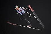 Poland, Wisla Malinka - 2017 November 18: Stefan Hula from Poland soars in the air during FIS Ski Jumping World Cup Wisla 2017/2018 - Day 1 at jumping hill of Adam Malysz on November 18, 2017 in Wisla Malinka, Poland.<br /> <br /> Mandatory credit:<br /> Photo by &copy; Adam Nurkiewicz<br /> <br /> Adam Nurkiewicz declares that he has no rights to the image of people at the photographs of his authorship.<br /> <br /> Picture also available in RAW (NEF) or TIFF format on special request.<br /> <br /> Any editorial, commercial or promotional use requires written permission from the author of image.