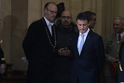 Outgoing Prime Minister Manuel Valls during a ceremony of transfer of power, at the Prime Minister's office Hotel de Matignon, in Paris, France on December 6, 2016. Valls has resigned to declare himself a candidate for the presidency, four days after President Francois Hollande announced he would not seek re-election next May 2017. Photo by Eliot Blondet/ABACAPRESS.COM