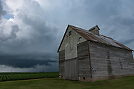 While I was visiting Illinois I had the chance to chase this storm outside of the town of Benson. The storm wasn't much, although it had some OK structure. But it was nice being back, since central Illinois is where I first learned how to storm chase.