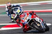 Jorge Lorenzo of Spain and Ducati Team  rides during free practice for the MotoGP of Catalunya at Circuit de Catalunya on June 10, 2017 in Montmelo, Spain.(ALTERPHOTOS/Rodrigo Jimenez)
