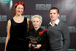 ACH Volley team: Petra Grahovac, Ivanka Mihelcic and during Sporto  2010 Gala Dinner and Awards ceremony at Sports marketing and sponsorship conference, on November 29, 2010 in Hotel Slovenija, Portoroz/Portorose, Slovenia. (Photo By Vid Ponikvar / Sportida.com)