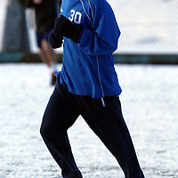 St Johnstone Training...03.02.03     Youngster Mark Baxter whose last minute goal salvaged a replay against Airdre tomorrow night training in the snow this morning with Darren Dods.<br />see story by Gordon Bannerman.  Tel 01738 553978<br /><br />Picture by Graeme Hart.<br />Copyright Perthshire Picture Agency<br />Tel: 01738 623350  Mobile: 07990 594431