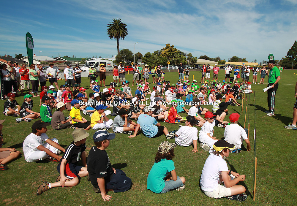 Activities at the National Bank's National Cricket Club ( NCC ) Supercamp, Nelson Park, Napier, Sunday 30 January 2011. Photo: Andrew Cornaga/photosport.co.nz