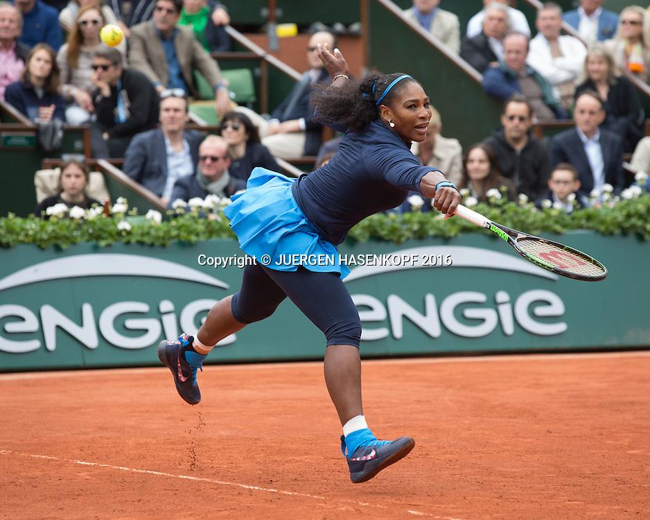 Serena Williams (USA) ,Damen Final, Endspiel,<br /> <br /> Tennis - French Open 2016 - Grand Slam ITF / ATP / WTA -  Roland Garros - Paris -  - France  - 4 June 2016.