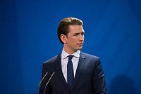 DEU, Deutschland, Germany, Berlin, 17.01.2018: Der Bundeskanzler von Österreich, Sebastian Kurz, bei einer Pressekonferenz im Bundeskanzleramt.