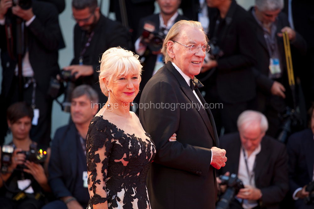 Donald Sutherland and  Helen Mirren at the premiere of the film The Leisure Seeker (Ella & John) at the 74th Venice Film Festival, Sala Grande on Sunday 3 September 2017, Venice Lido, Italy.