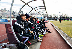 Team of Triglav Kranj during First League Telekom Slovenie Football match between Triglav Kranj vs Aluminij on the February 24. 2019, Kranj, Slovenia. Photo by Matic Ritonja / Sportida