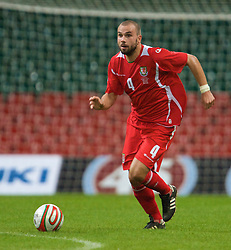 CARDIFF, WALES - Friday, September 5, 2008: Wales' Carl Fletcher in action against Azerbaijan during the opening 2010 FIFA World Cup South Africa Qualifying Group 4 match at the Millennium Stadium. (Photo by David Rawcliffe/Propaganda)