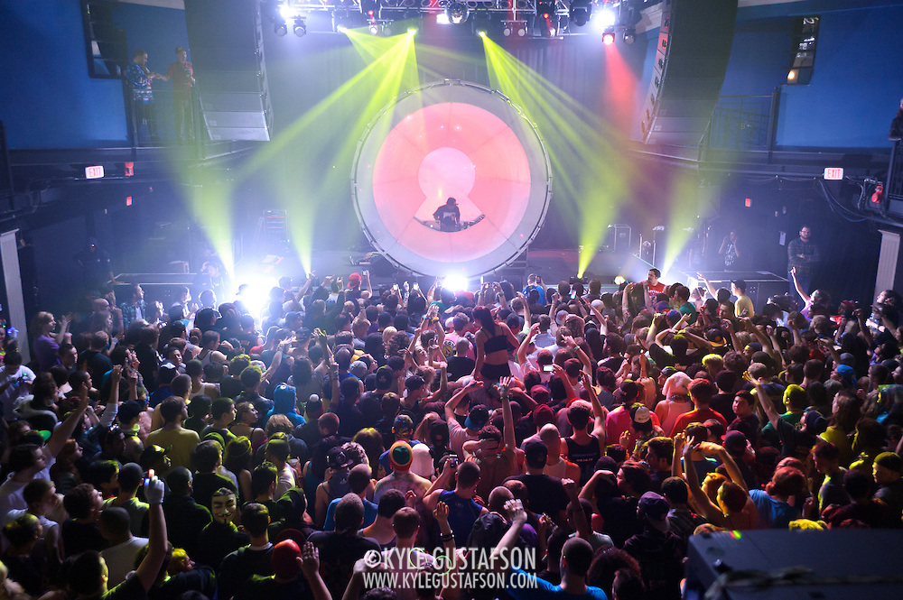 WASHINGTON, DC - January 13th, 2013 - Dubstep DJ and music producer Datsik, aka Troy Beetles, performs at the 9:30 Club in Washington, D.C. as part of the Rockstar Energy Drink Reloaded Tour. After a string of successful singles and remixes of bands like Coldplay, Linkin Park and Lil Wayne, Datsik released his debut album Vitamin D, on Dim Mak Records in April of 2012. (Photo by Kyle Gustafson/For The Washington Post)