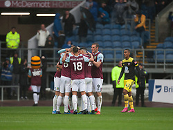 Ashley Barnes of Burnley (Hidden) celebrates after scoring his sides second goal - Mandatory by-line: Jack Phillips/JMP - 10/08/2019 - FOOTBALL - Turf Moor - Burnley, England - Burnley v Southampton - English Premier League