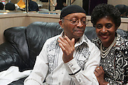 l to r: Cecil Taylor and his cousin, Vanessa Cobb at Cecil Taylor Celebrating The 80th Year Produced by Jill Newman Productions held at The Blue Note in New York City on May 28, 2009