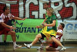 Jure Dolenec of Merkur at handball game RD Slovan vs RD Merkur  in 7th round of MIK First league, on October 24, 2008 in Ljubljana, Slovenia. (Photo by Vid Ponikvar / Sportal Images)