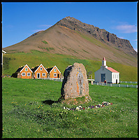 Hrafnseyri in Auðkúluhreppur. The icelandic freedom fighter Jón Sigurðsson was born here June on 17th 1811 and that days is The Icelandic Independence Day. Hrafnseyri í Auðkúluhrepp, heimabær Jóns Sigurðssonar.<br />