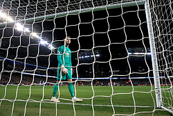Manchester United goalkeeper David de Gea appears dejected during the Premier League match at the Etihad Stadium, Manchester.
