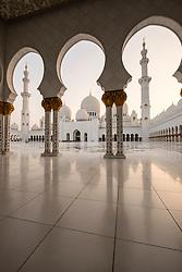 Sheikh Zayed Grand Mosque in Abu Dhabi United Arab Emirates