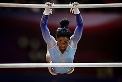 November 2, 2018 - Doha, Qatar - Simone Biles of  United States   during  Uneven Bars for Women at the Aspire Dome in Doha, Qatar, Artistic FIG Gymnastics World Championships on 2 of November 2018. (Credit Image: © Ulrik Pedersen/NurPhoto via ZUMA Press)