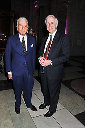 Left to right, NICKY HASLAM and HUGO VICKERS at a private view of Photographs by Cecil Beaton celebrating the diamond jubilee of HM The Queen Elizabeth 11 at the Victoria & Albert Museum, Cromwell Road, London on 6th February 2012.