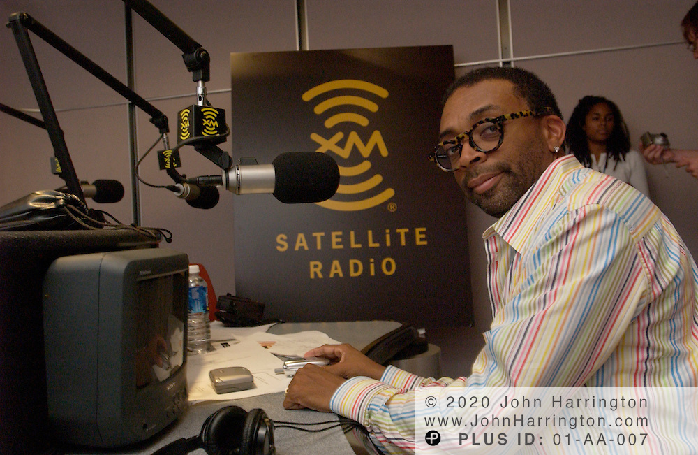 Spike Lee is seen here in one of XM Satellite Radio's studios on Wednesday July 14, 2004.