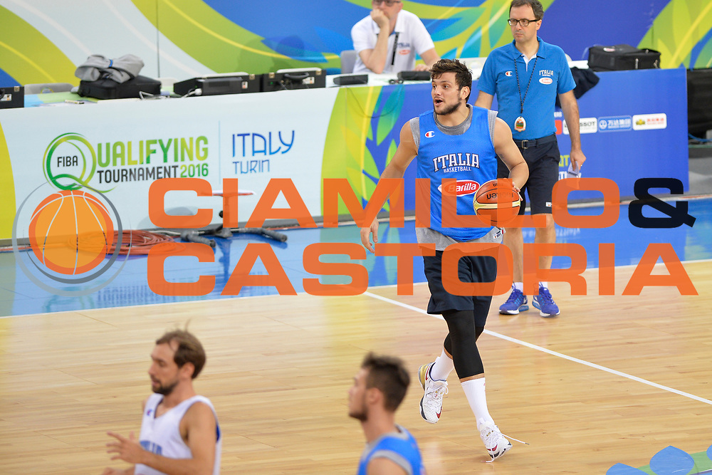 DESCRIZIONE: Torino FIBA Olympic Qualifying Tournament Allenamento<br /> GIOCATORE: Alessandro Gentile<br /> CATEGORIA: Nazionale Italiana Italia Maschile Senior  Allenamento<br /> GARA: FIBA Olympic Qualifying Tournament Allenamento<br /> DATA: 08/07/2016<br /> AUTORE: Agenzia Ciamillo-Castoria