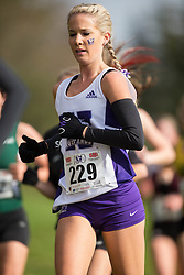 Alicia Knox of the Western Mustangs runs in the women's  6K Dash at the 2013 CIS Cross Country Championships in London Ontario, Saturday,  November 9, 2013.<br /> Mundo Sport Images/ Geoff Robins