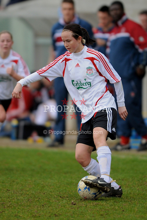 DARTFORD, ENGLAND - Sunday, February 24, 2008: Liverpool Ladies' Cheryl Foster in action against Charlton Athletic Ladies during the Women's Premier League match at Princes Park. (Pic by Barry Goodwin/Propaganda)