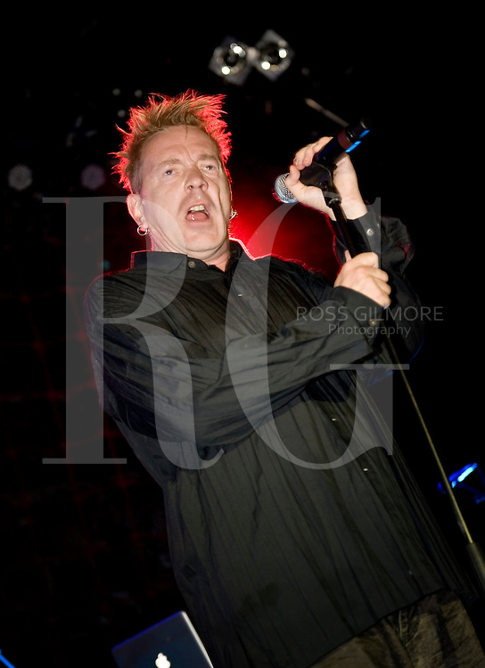 GLASGOW, UNITED KINGDOM - JULY 26: John Lydon of Pubic Image Ltd performs on stage at O2 ABC on July 26, 2010 in Glasgow, Scotland. (Photo by Ross Gilmore)