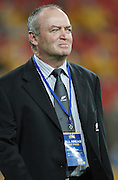 All Black Coach Graham Henry before the start of the match. All Blacks v Australia Tri Nations Rugby Union Test Match. Suncorp Stadium, Brisbane, Australia, Saturday 13 September 2008. Photo: Andrew Cornaga/PHOTOSPORT