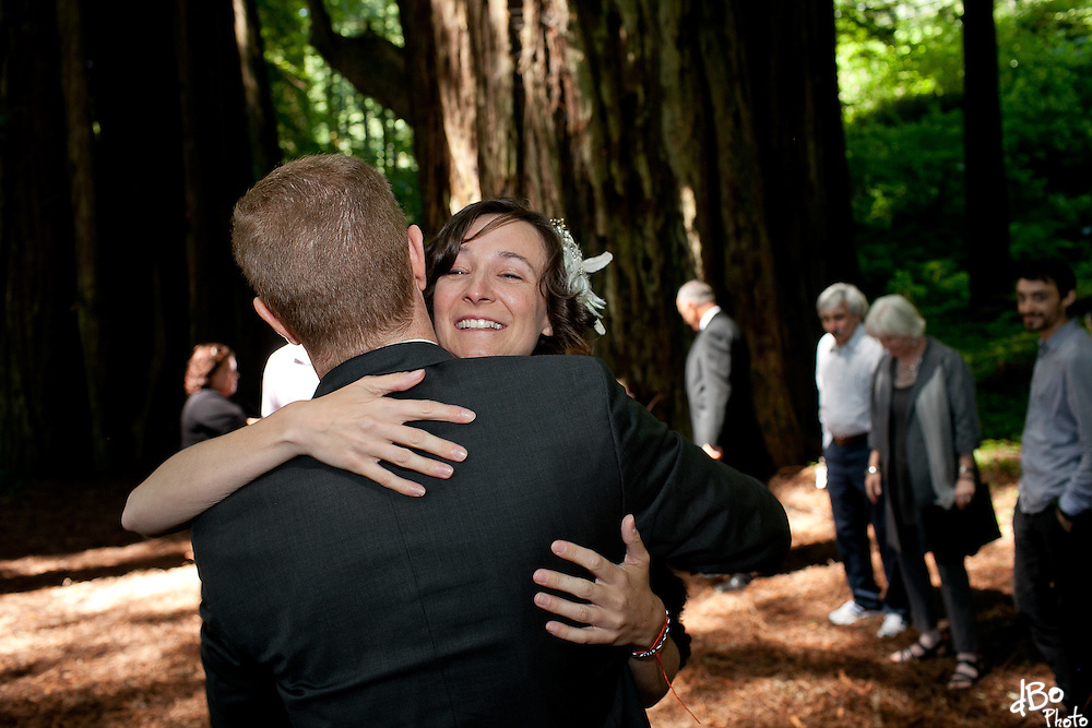 Jessica Notargiacomo and Philip Keffer's wedding in the Redwoods, California. (Photo/Douglas Bovitt)