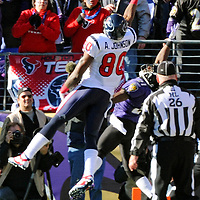 15 January 2012:  Houston Texans wide receiver Andre Johnson (80) in action against the Baltimore Ravens in the Divisional Playoff at M&T Bank Stadium in Baltimore, MD. The Ravens defeated the Texans 20-13 to advance to the AFC Championship game..