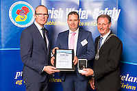 Dublin - Ireland, Tuesday 8th November 2016:<br /> Simon Coveney TD, Minister for Housing, Planning &amp; Local Government with 'Seiko Just In Time Award' recipient John McCarthy (Cork) and Martin O'Sullivan, Chairman of Irish Water Safety at the annual Irish Water Safety Awards held at Dublin Castle.  Photograph: David Branigan/Oceansport
