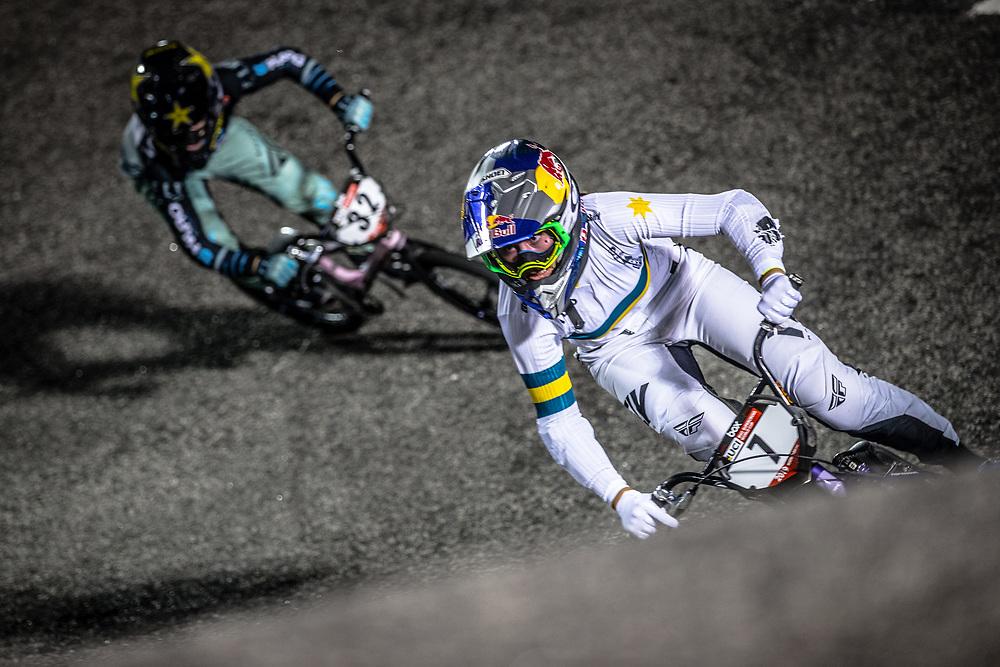 #7 (SAKAKIBARA Saya) AUS [DK, Redbull, Box, FLY] at Round 7 of the 2019 UCI BMX Supercross World Cup in Rock Hill, USA