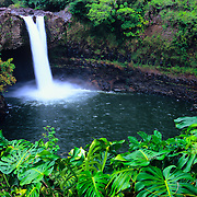 Rainbow Falls on the Big Island, Hawaii.