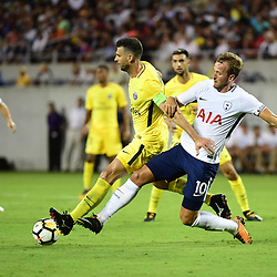 (L-R) Thiago Motta of PSG and Harry Kane of Spurs during the International Champions Cup match between Paris Saint Germain and Tottenham Hotspur on July 22, 2017 in Orlando, United States. (Photo by Dave Winter/Icon Sport)