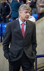 BOLTON, ENGLAND - Saturday, March 29, 2008: Arsenal's manager Arsene Wenger during the Premiership match against Bolton Wanderers at The Reebok Stadium. (Photo by David Rawcliffe/Propaganda)