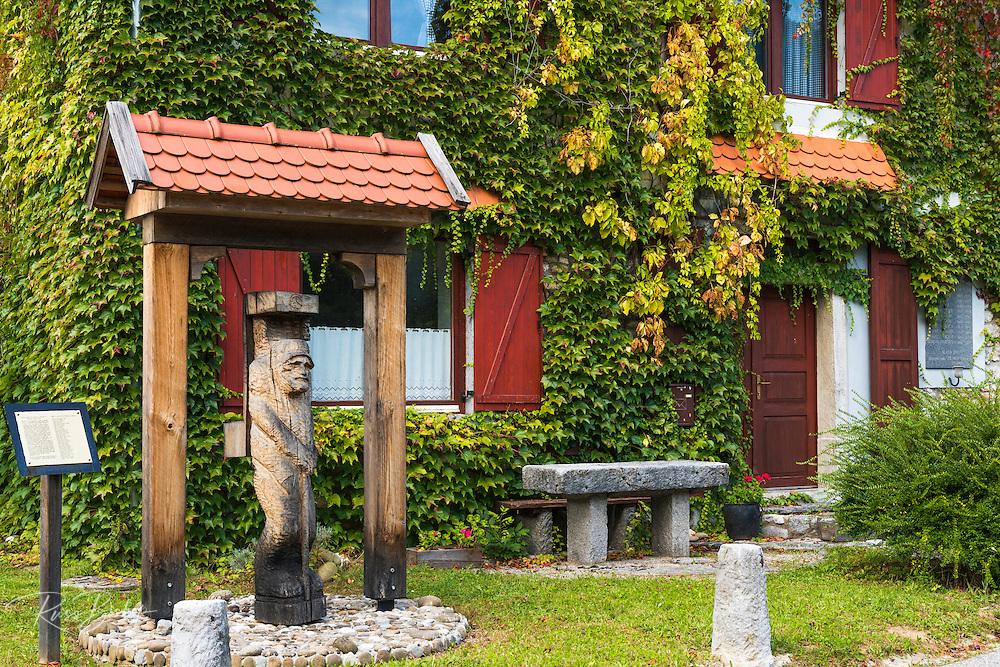 Historic inn along the Kupa River, Bosljiva Loka, Slovenia