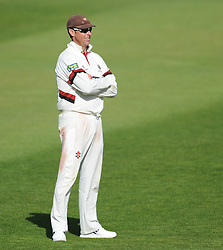Somerset captain Marcus Trescothick looks on.  - Mandatory byline: Alex Davidson/JMP - 07966386802 - 12/09/2015 - CRICKET - The County Ground -Taunton,England - Somerset CCC v Hampshire CCC - Day 4