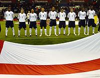 Photo: Chris Ratcliffe.<br /> England v France. U21 European Championships.<br /> 11/11/2005.<br /> Engalnd team line up