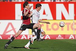 09.04.2011, easy Credit Stadion, Nuernberg, GER, 1 FC Nuernberg vs FC Bayern Muenchen, im Bild:  Zweikampf zwischen Mario Gomez (Muenchen #33) und Philipp Wollscheid (Nuernberg #38).EXPA Pictures © 2011, PhotoCredit: EXPA/ nph/  news       ****** out of GER / SWE / CRO  / BEL ******