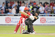 Leicestershire Foxes Ben Raine during the Vitality T20 Blast North Group match between Lancashire Lightning and Leicestershire Foxes at the Emirates, Old Trafford, Manchester, United Kingdom on 3 August 2018. Picture by George Franks.
