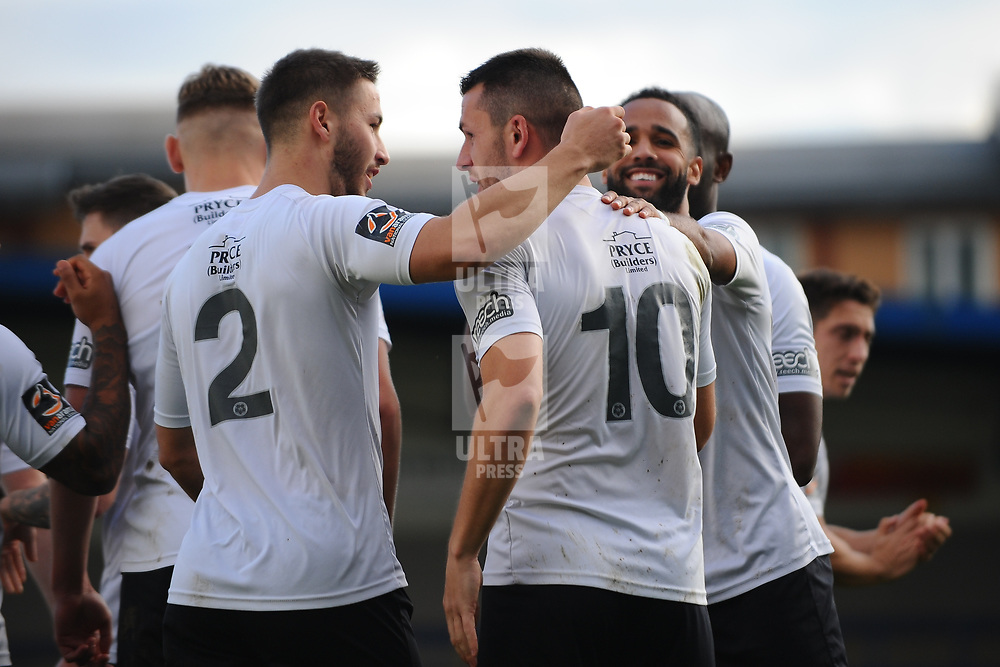 TELFORD COPYRIGHT MIKE SHERIDAN GOAL. Aaron Williams of Telford scores a penalty to make it 2-0 during the Vanarama National League Conference North fixture between AFC Telford United and Guiseley on Saturday, October 19, 2019.<br /> <br /> Picture credit: Mike Sheridan/Ultrapress<br /> <br /> MS201920-026