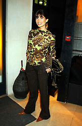 Model LISA B at a party to celebrate the first 20 years of fashion label Donna Karan held at her store at 19/20 New Bond Street, London W1 on 21st September 2004.<br />