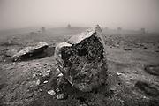 Druid's Circle in thick fog, Penmaenmawr