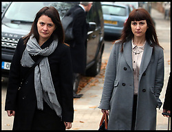 Italian sisters Elisabetta (left) and Francesca Grillo (right, Grey Coat)arrive at Isleworth Crown Court<br />