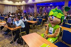 Lipko, official mascot of Eurobasket 2013, during sports marketing and sponsorship conference Sporto 2012, on November 27, 2012 in Hotel Slovenija, Congress centre, Portoroz / Portorose, Slovenia. (Photo By Vid Ponikvar / Sportida.com)
