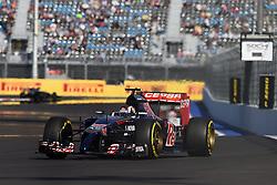 10.10.2014, Sochi Autodrom, Sotschi, RUS, FIA, Formel 1, Grosser Preis von Russland, Training, im Bild Daniil Kvyat (RUS) Scuderia Toro Rosso STR9. // during the Practice of the FIA Formula 1 Russia Grand Prix at the Sochi Autodrom in Sotschi, Russia on 2014/10/10. EXPA Pictures © 2014, PhotoCredit: EXPA/ Sutton Images<br /> <br /> *****ATTENTION - for AUT, SLO, CRO, SRB, BIH, MAZ only*****