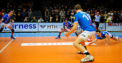 30-03-2013 VOLLEYBAL: LANDSTEDE VOLLEYBAL - ABIANT LYCURGUS: ZWOLLE<br /> 5de Play-off finale best of 5 - Wilson Taylor, Edson Felicissimo, Robbert Andringa<br /> &copy;2013-FotoHoogendoorn.nl