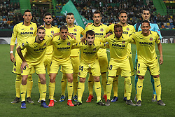 February 14, 2019 - Lisbon, Portugal - Lineup of the Villarreal FC team during the Europa League 2018/2019 footballl match between Sporting CP vs Villarreal FC. (Credit Image: © David Martins/SOPA Images via ZUMA Wire)