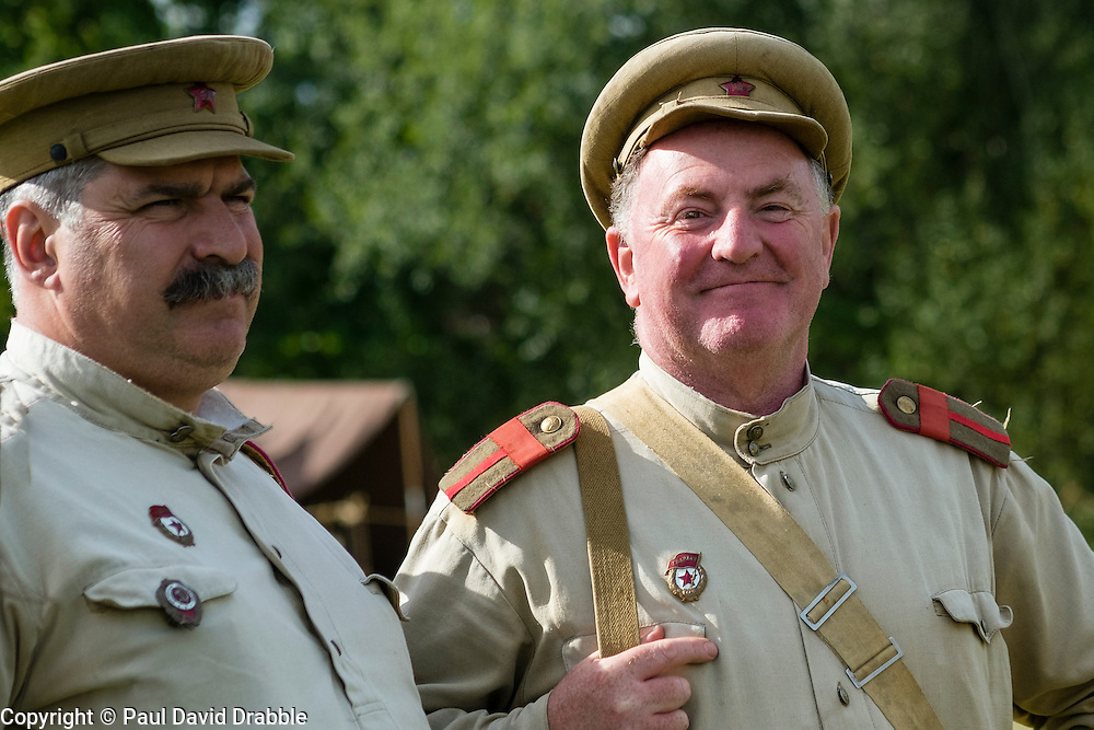 Soviets from the Red Army's  13th Guards Rifle Division at Crowle &amp; Ealand 1940's weekend at 7 Lakes Country Park on Sunday<br />